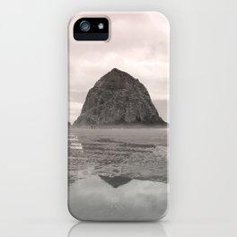 Soft Glowing Haystack Rock Cannon Beach Oregon Coast Geology Landscape Nature iPhone Case