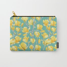 Yellow Magnolia Spring Bloom Carry-All Pouch