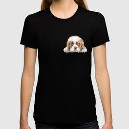 Cavalier King Charles Spaniel Dog Watercolor Pet Portrait T-shirt