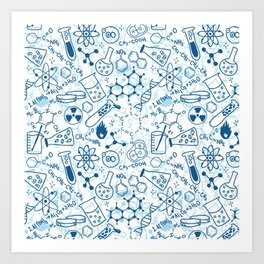 School chemical pattern #2 Art Print
