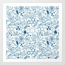 School chemical pattern #2 Art Print
