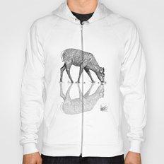 Black & White Line Work Animal Reflection Vector Hoody