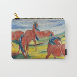 """Franz Marc """"Grazing Horses"""" (III) Carry-All Pouch"""