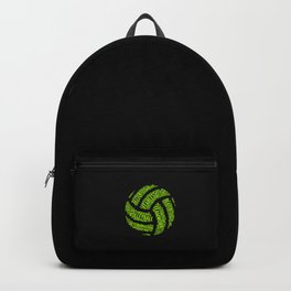 Lime Green Volleyball Wordcloud - Gift Backpack