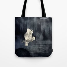 The owl and her mystical moon Tote Bag