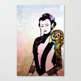 Flower and Willow Canvas Print