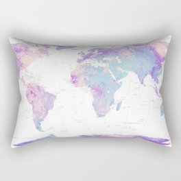 Unicorn Earth Map Rectangular Pillow