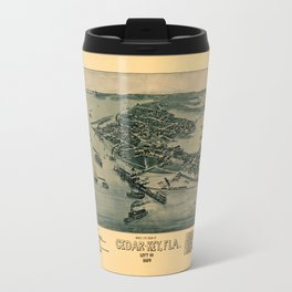 Map of Cedar Key 1884 Travel Mug