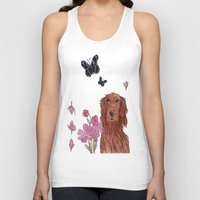 irish Tank Tops featuring Irish Setter by artofnadia