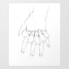 Untitled Hands No.6 Art Print