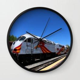 New Mexico Rail Runner Wall Clock