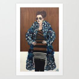 Behind Blue Mink Art Print