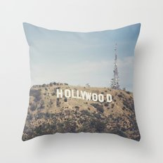 Hike to the Sign Throw Pillow