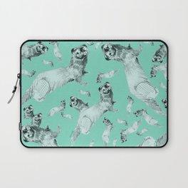 Mink in Bleu (pattern) Laptop Sleeve