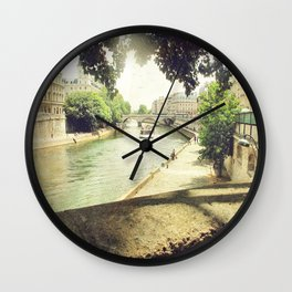 Seine, Paris Wall Clock