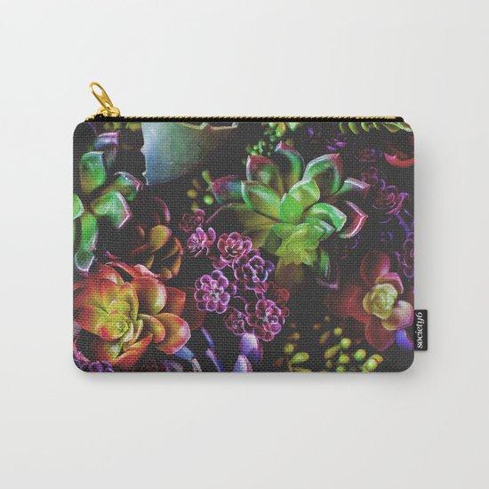 Colorful Succulent Plants Carry-All Pouch