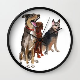 watercolor dog vol2 Pointer, Coonhound, Alaskan Wall Clock