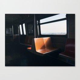 On my way / New York City subway Canvas Print