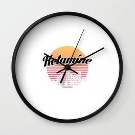 Ketamine drug | retro vintage art work Wall Clock