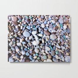 Pretty Pastel Pebbles Metal Print