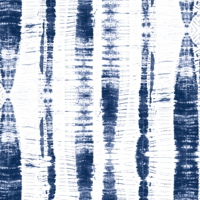 Shibori Stripes 2 Indigo Blue Leggings