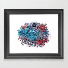 What Me Worry, I Never Do Framed Art Print