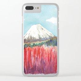 Ruapehu volcano , Tongariro National Park New Zealand Clear iPhone Case