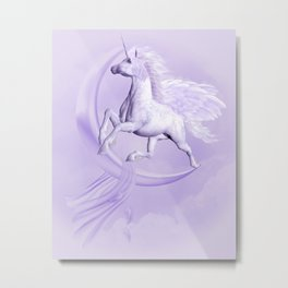 Flying Pegasus Metal Print