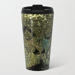 Death funerary mask texture metallic pattern tradition illustration painting Travel Mug