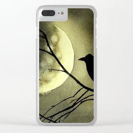 Crow Moon Clear iPhone Case