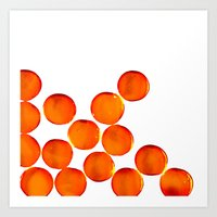 Crystal Balls Orange Art Print