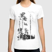 birch T-shirts featuring Birch  by Kelly Baskin