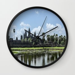 Angkor Wat at High Noon, Cambodia Wall Clock