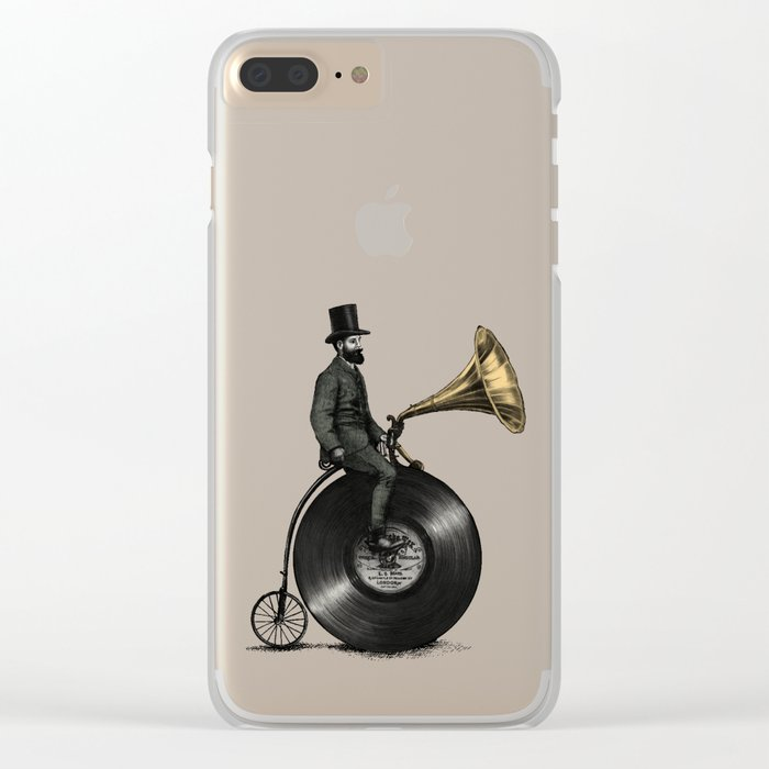 Music Man (Green Option) Clear iPhone Case