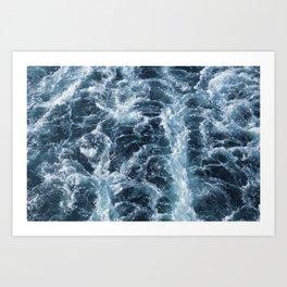 Sea Blue Wake - Pacific Ocean Art Print