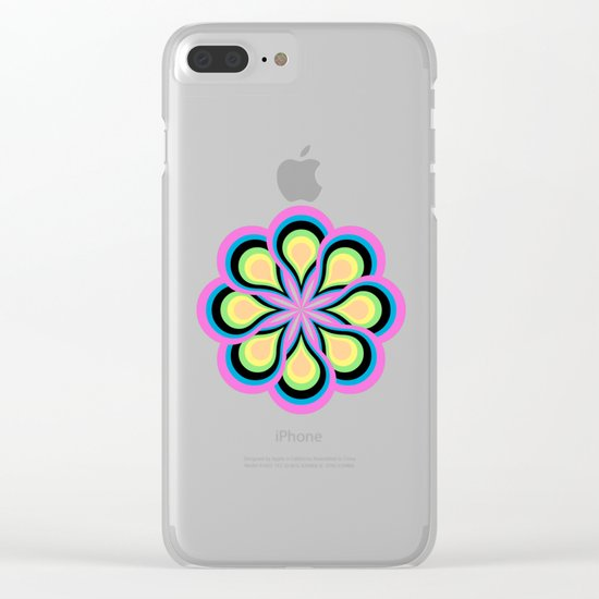 Colorful Feathers Mandala Clear iPhone Case