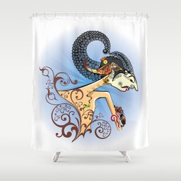 Wayang or shadow puppets Shower Curtain