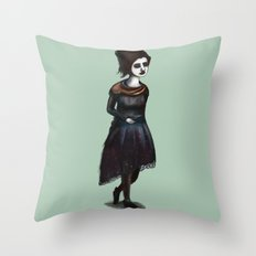 French Girl IV Throw Pillow
