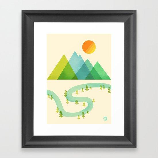 Bend in the River Framed Art Print