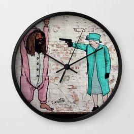 Street Art London Queen Thug Urban Wall Graffiti Artist Prolifik Wall Clock