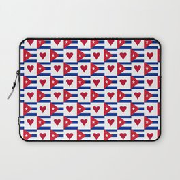 Flag of Cuba 3 -cuban,havana, guevara,che,castro,tropical,central america,spanish,latine Laptop Sleeve