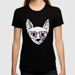 geek cool cat T-shirt
