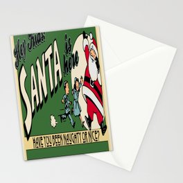 Vintage Christmas Poster Stationery Cards