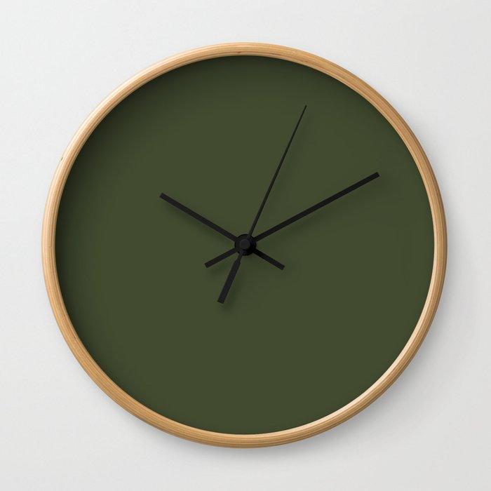 Cedar Creek ~ Moss Green Wall Clock