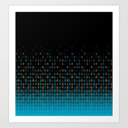 Binary Speed Art Print