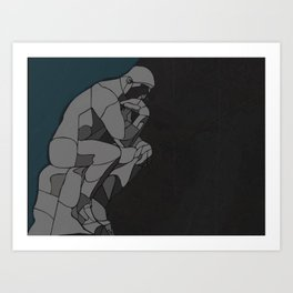 Painful Thoughts Art Print