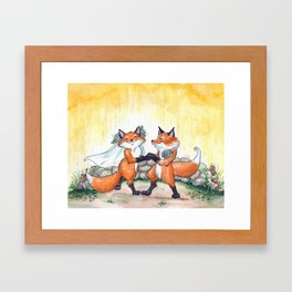 Fox Wedding  Framed Art Print