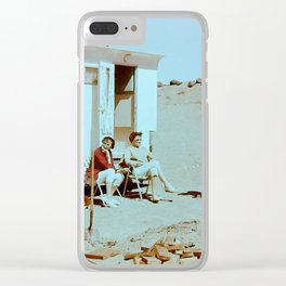 Dustbowl Camping Clear iPhone Case