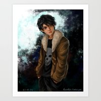 nico di angelo Art Prints featuring Nico di Angelo by Monsie