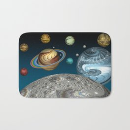 To The Moon And Beyond Bath Mat